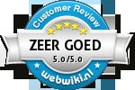 Reviews bij prijsvragengala.nl