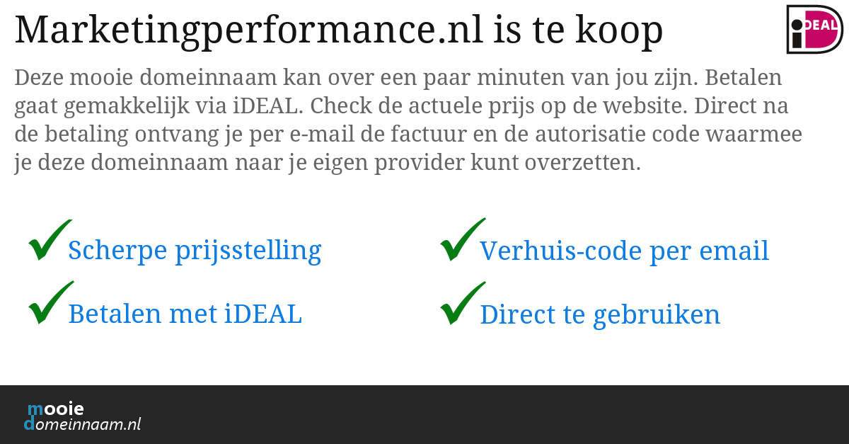 (c) Marketingperformance.nl