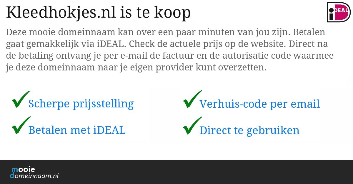 (c) Kleedhokjes.nl