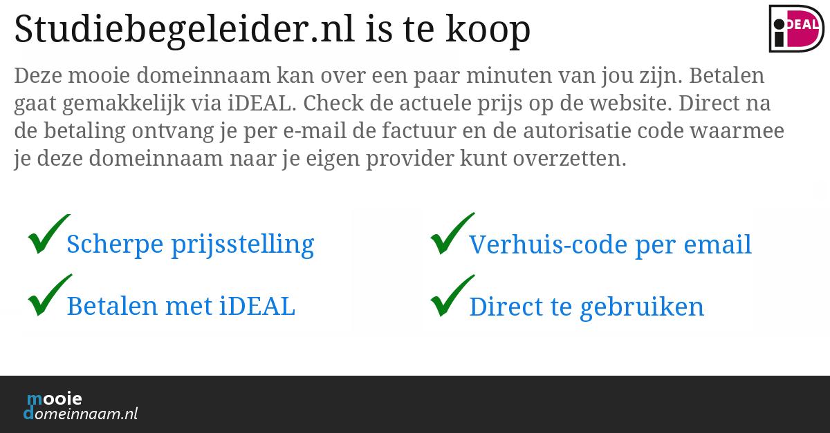 (c) Studiebegeleider.nl